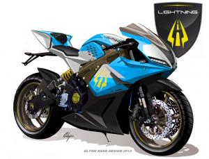 Lightning Streetbike blue with logo