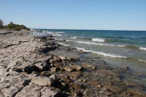 Rocky beach in Ontario