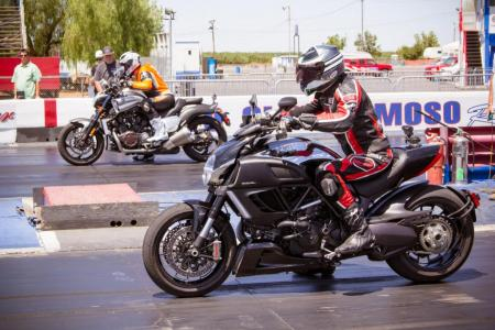 2012 Ducati Diavel Cromo and Star VMAX Drag Strip