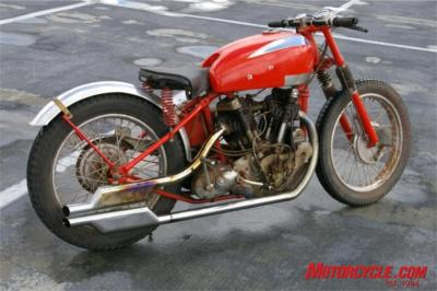 garson el camino el hybrid crocker triumph red crocker basement bike
