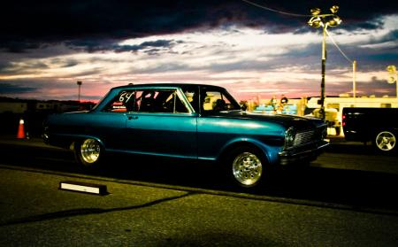 Dusk and a Chevy