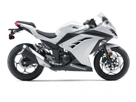 2013 Kawasaki Ninja 300 Profile Right White