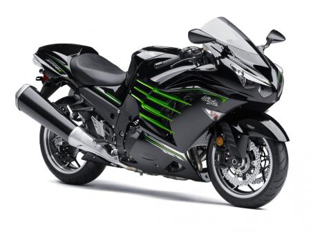 2013 Kawasaki Ninja ZX-14R Front Right Black
