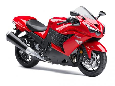 2013 Kawasaki Ninja ZX-14R Front Right Red