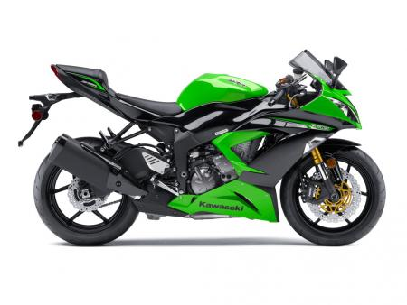 2013 Kawasaki Ninja ZX-6R Profile Right Green