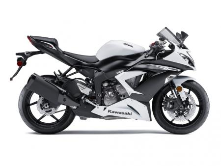 2013 Kawasaki Ninja ZX-6R Profile Right White