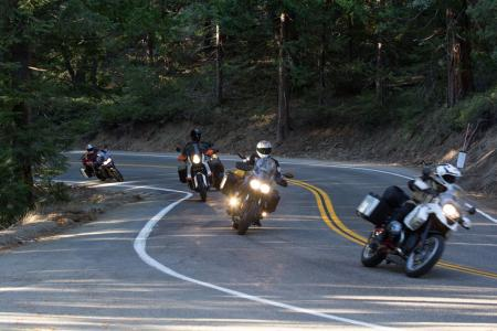 2012 Adventure Touring Shootout Action Road