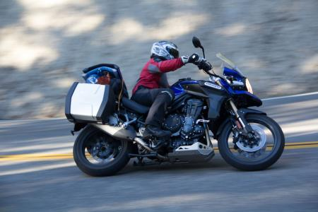 2012 Adventure Touring Shootout Triumph Explorer Action Right