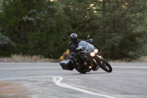 2012 Adventure Touring Shootout Moto Guzzi Stelvio Cornering