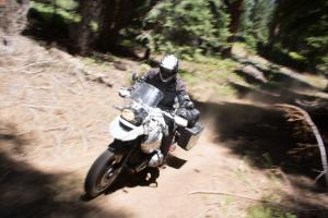 2012 Adventure Touring Shootout BMW R1200GS Action Dirt