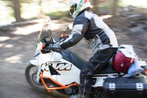 2012 Adventure Touring Shootout KTM 990 Adventure Action Dirt