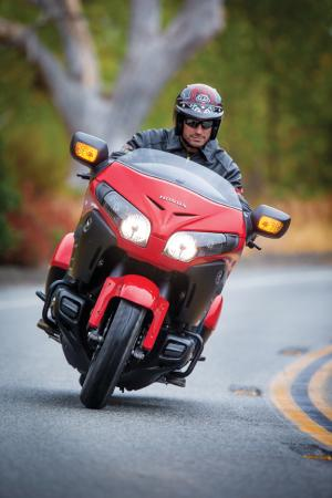2013 Honda GoldWing F6B Action Deluxe Red Front