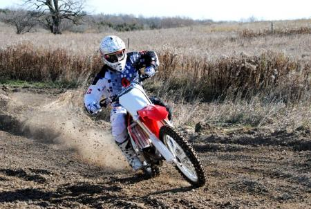 2013 Honda CRF450R Action Front