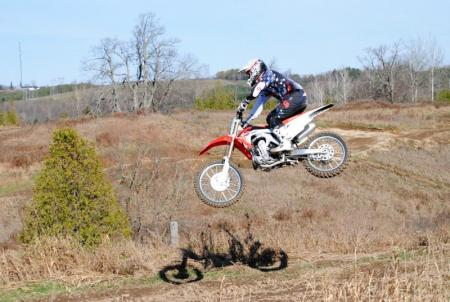 2013 Honda CRF450R Action Jump