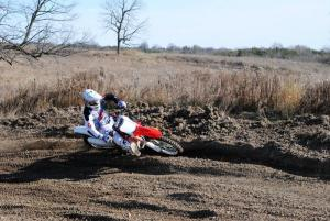 2013 Honda CRF450R Action Foot Down