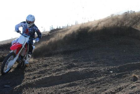 2013 Honda CRF450R Action Cornering