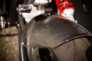 2013 Brammo Empulse R carbon fiber rear fender