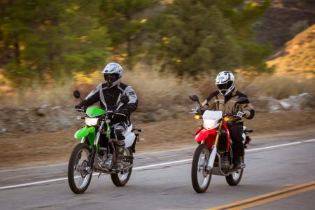 2013 Kawasaki KLX250S and 2013 Honda CRF250L