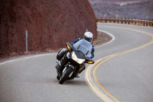 2012 Honda ST1300 Action Cornering