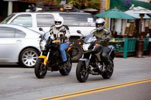 2012 Kawasaki Versys vs. Honda NC700X Action City
