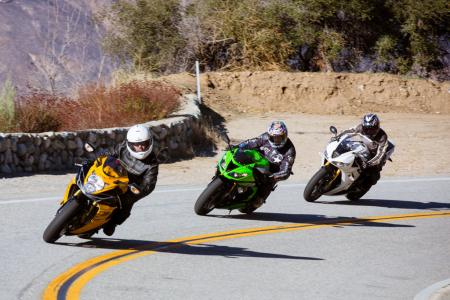 2013 Oddball Sportbike Shootout Action Group