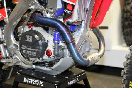 Chad Reed Honda CRF450R Exposed Exhaust