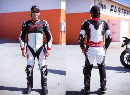 Alpinestars Atem Leathers Front and Back