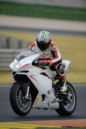 2013 MV Agusta F4 and F4 RR Action Left