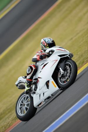 2013 MV Agusta F4 RR Action Deep Lean