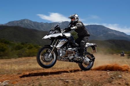 2013 BMW R1200GS Action Dirt Wheelie Left