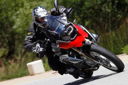 2013 BMW R1200GS Action Street Cornering Tight
