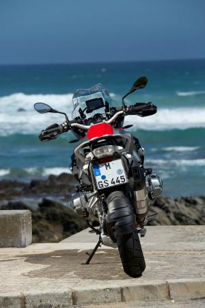 2013-BMW-R1200GS-Red-Rear