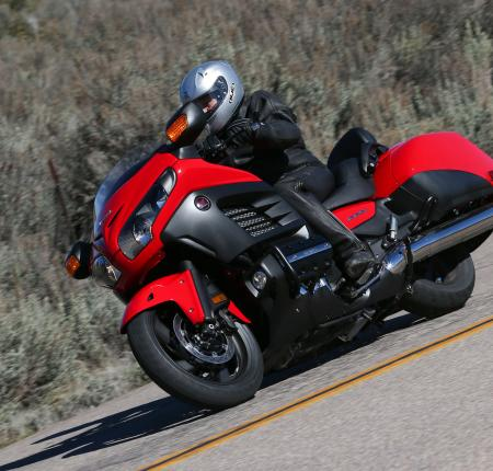 2013 Honda Gold Wing F6B Action Front Left Red