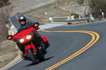 2013 Honda Gold Wing F6B Action Front Red
