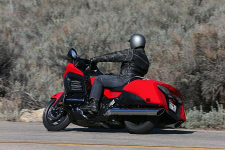 2013 Honda Gold Wing F6B Action Left Rear Red