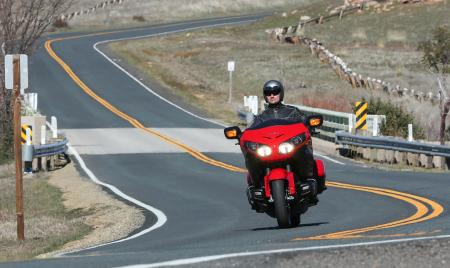 2013 Honda Gold Wing F6B Action Open Road Red