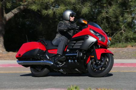 2013 Honda Gold Wing F6B Action Right Cornering Red