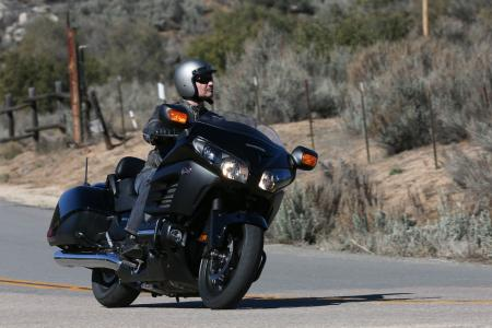 2013 Honda Gold Wing F6B Action Right Front Black