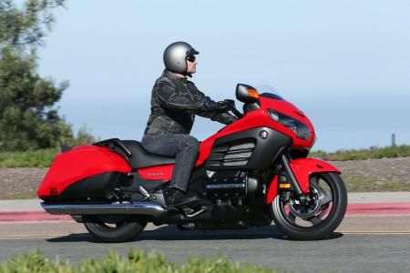 2013 Honda Gold Wing F6B Action Right Red