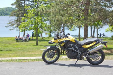 Motorcycle Picnic in Algonquin Park