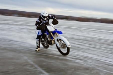 Motorcycle Ice Racing Cornering
