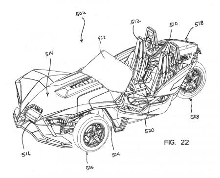 Polaris Trike Patent Front Left
