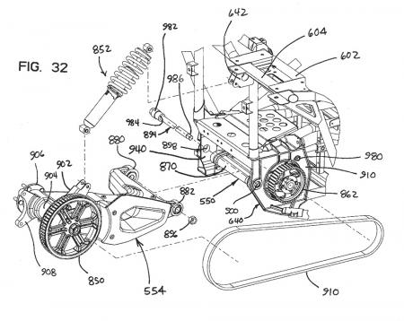 Polaris Trike Patent Rear Schematic