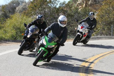 2013 250 Sportbike Shootout Group Action