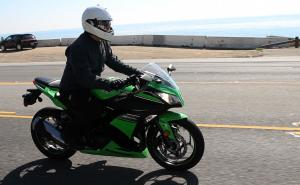 2013 Kawasaki Ninja 300 Action  Right