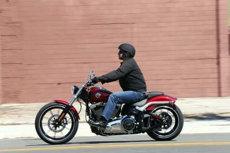 2013 Harley-Davidson Breakout Left Action