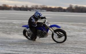 Motorcycle Ice Racing Lean