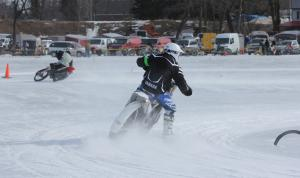 Motorcycle Ice Racing Action Rear