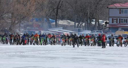 Motorcycle Ice Racing Start