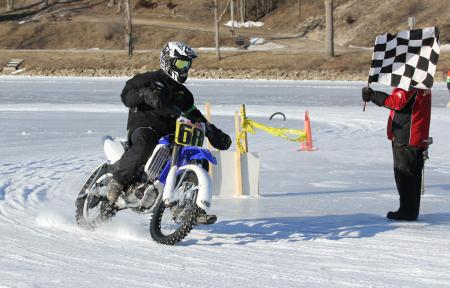 Steel Shoe Fund Ice Race Finish